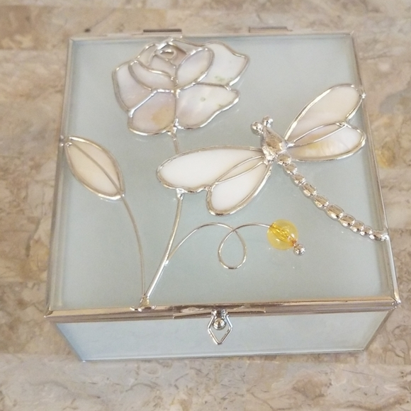 3D Dragonfly Glass Jewelry/Storage